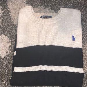 Polo by Ralph Lauren black&cream striped sweater